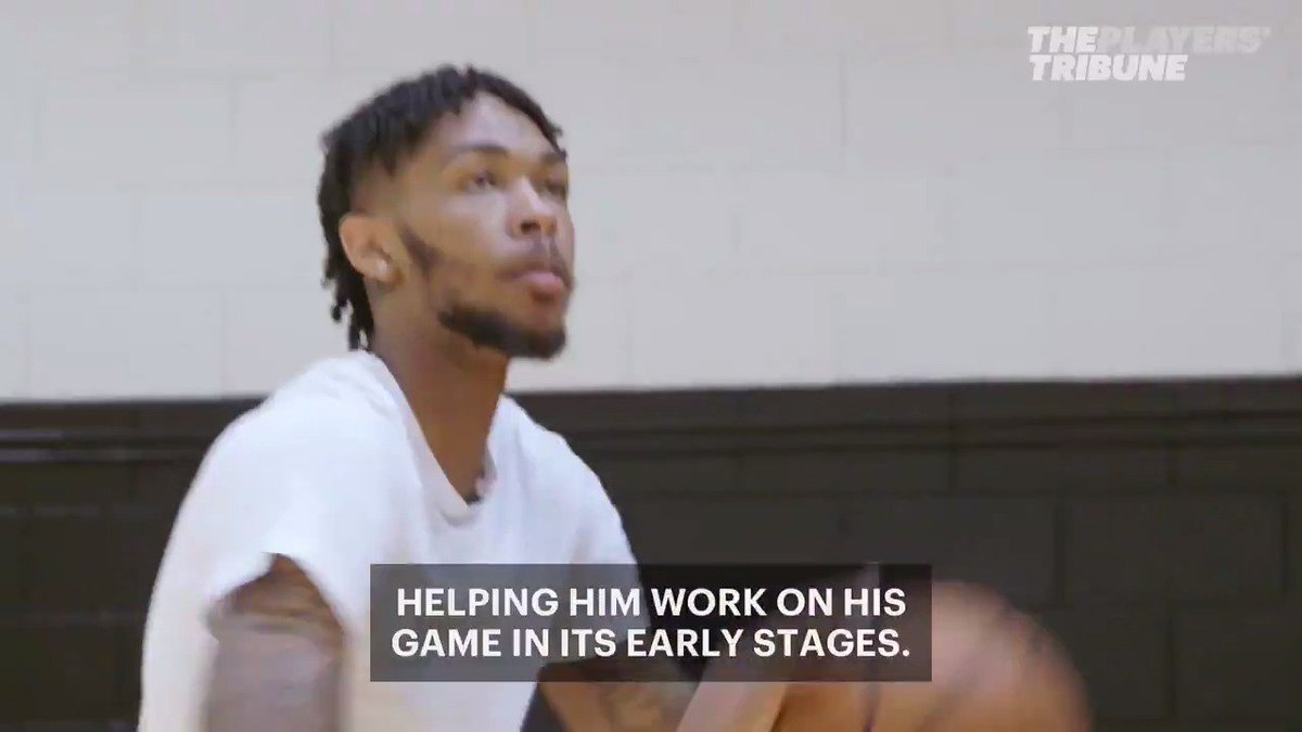 Growing up, @B_Ingram13 found a safe haven at the gym, now he's providing that for a new generation of kids. #FirstStep  (w/ @amfam)