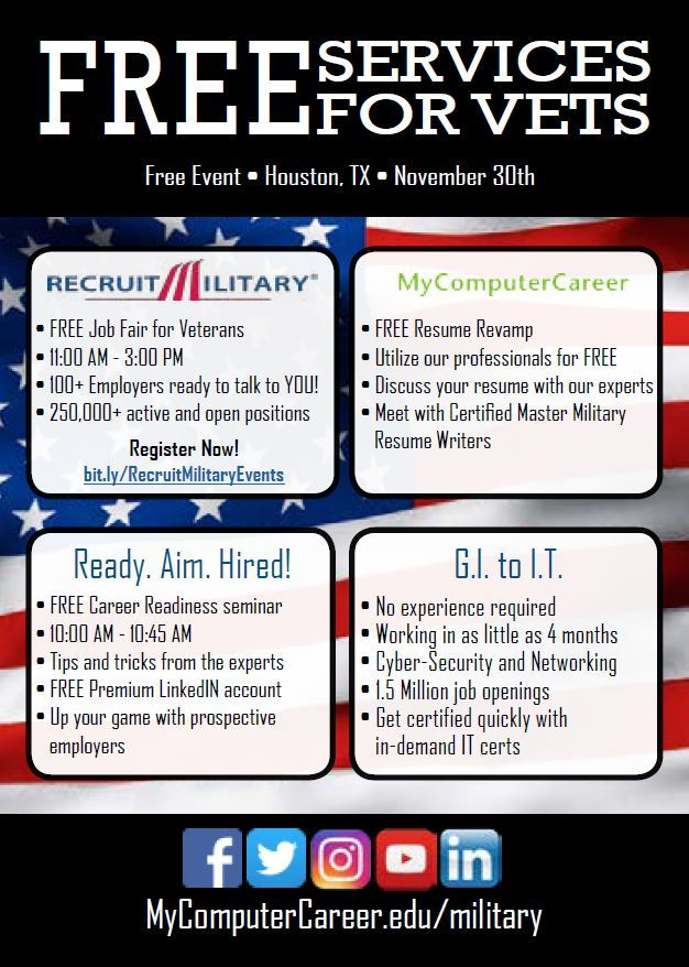 certified master military resume writers will be ready and waiting to help you revamp your resume do you know a veteran who could use a free service like