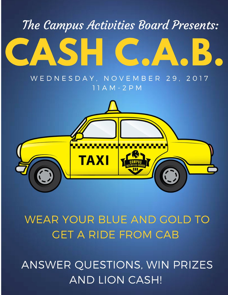 Cab cash and prizes