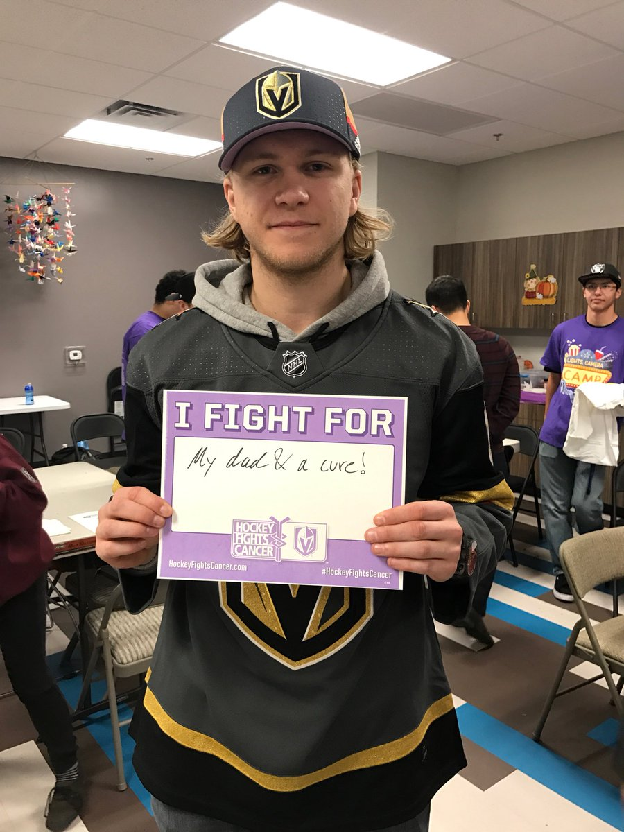 Tonight is more than just a game for William Karlsson. #HockeyFightsCancer https://t.co/yHuaKHtYZz