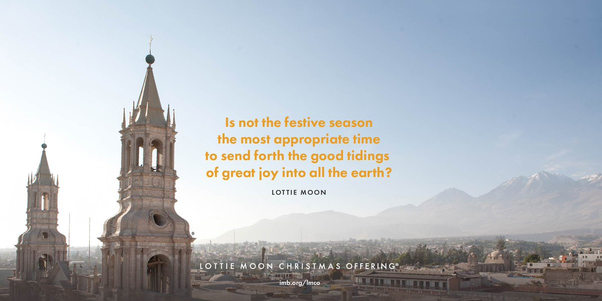test Twitter Media - Sunday, December 3, begins the Week of Prayer for International Missions. Help share the Gospel around the world by giving to the Lottie Moon Christmas Offering. Learn more about #LMCO17 at https://t.co/RG0JSppLME. https://t.co/yrliR9bgVv