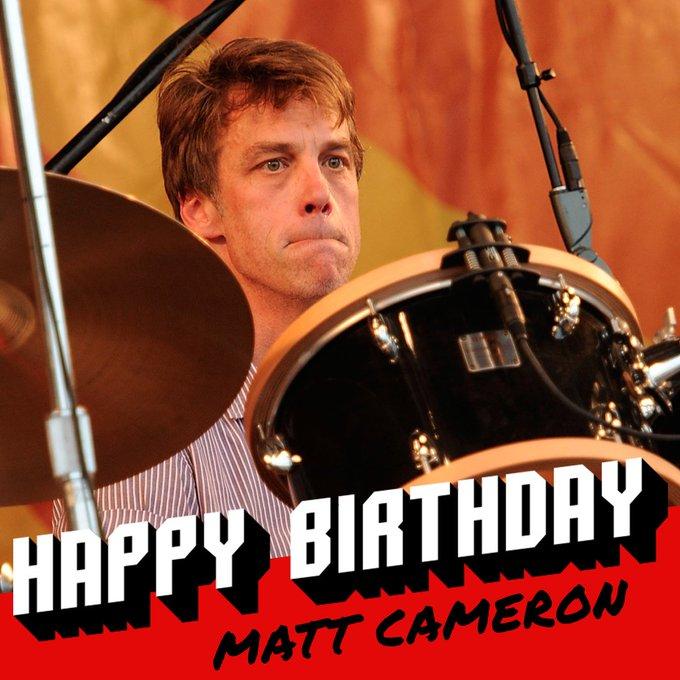 Happy 55th birthday to and drummer Matt Cameron!