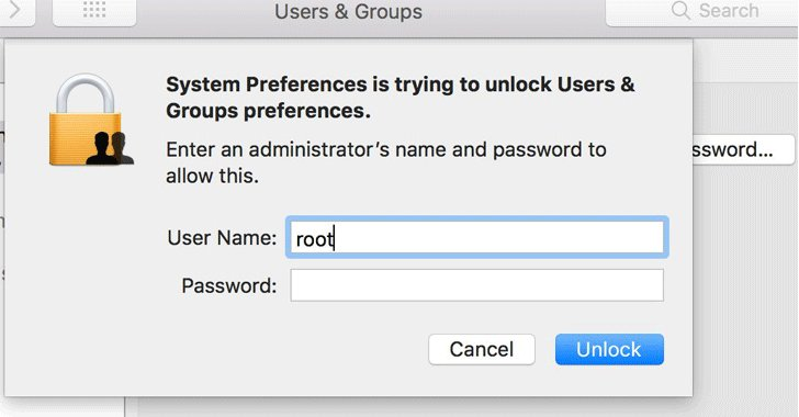 *HUGE* Security flaw discovered in #Apple's macOS High Sierra. A simple hack allows anyone to gain Root (Admin) access without a password.  https://t.co/mxbwjU7gT3  Do not leave your Macbook unattended until this is resolved.