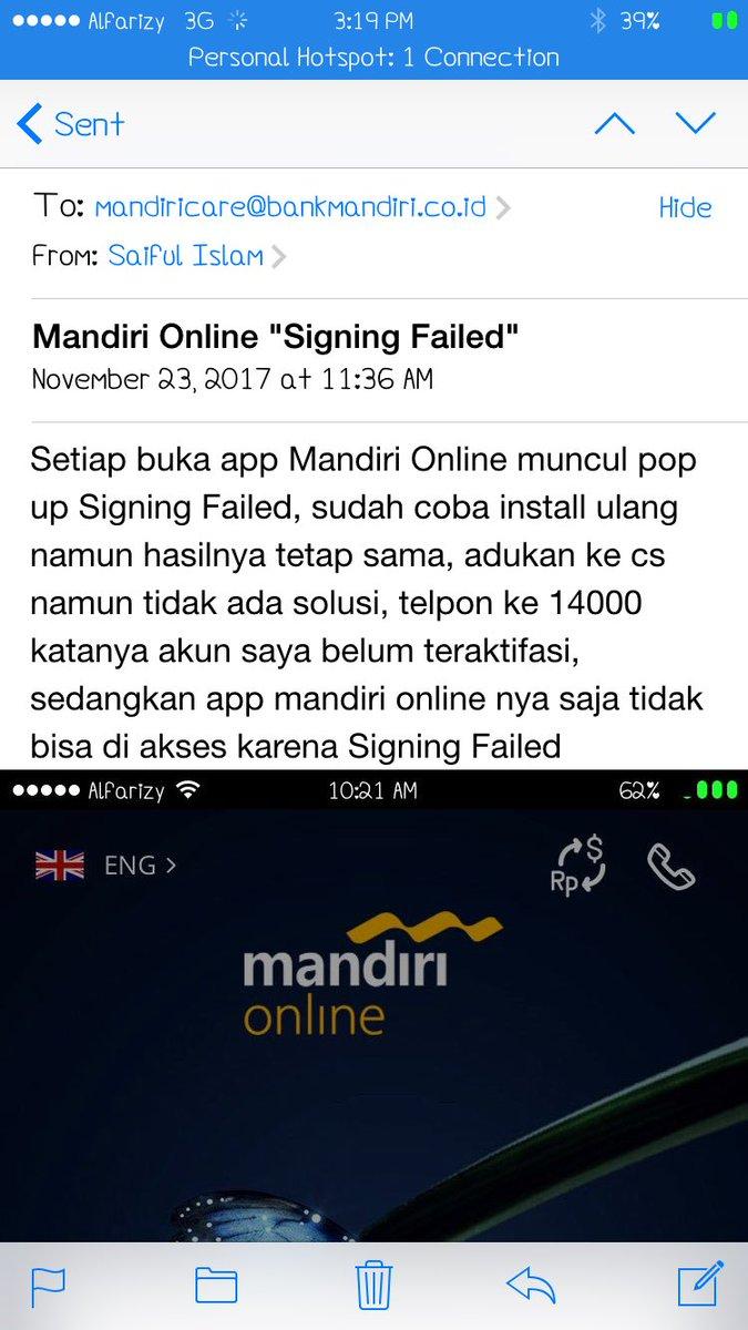 Bank Mandiri On Twitter Mengirimkan Email Mandiricare Bankmandiri Co Id Tks Ardi