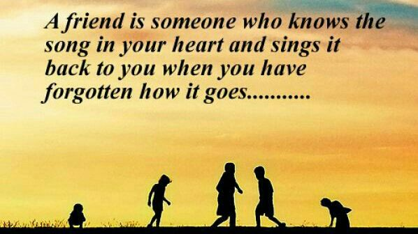 Good Life Quotes On Twitter A Friend Is Someone Who Knows The Song