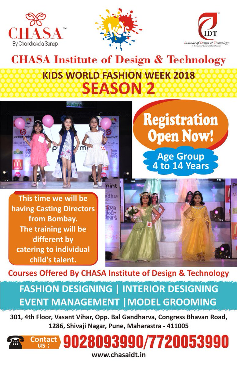 CHASA Institute Of Design Technology Is Back With KidsWorldFashion Week2018 Season 2pictwitter UcxmAmKGtQ