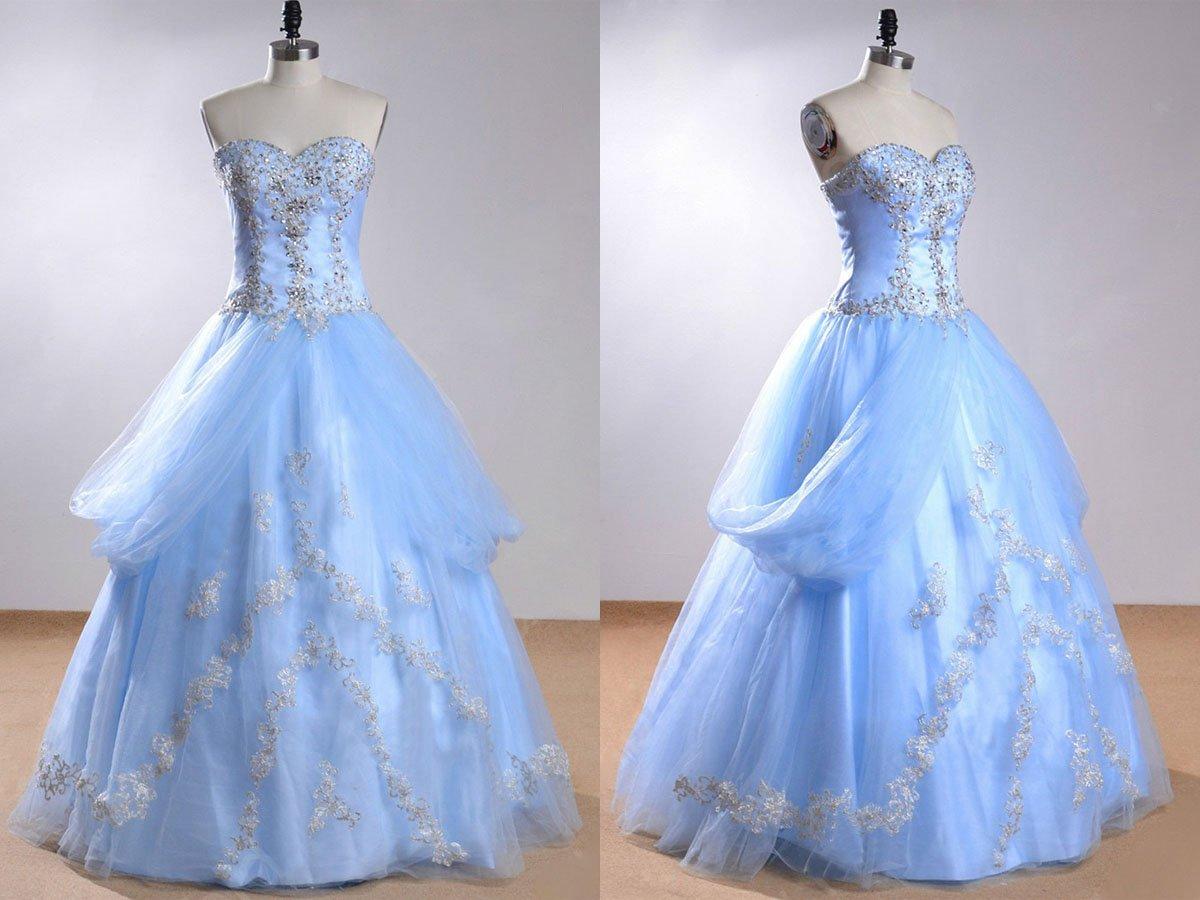 547900f9e68 Sweetheart Sleeveless Light Blue Beading Wedding Dress With Beading WD169   weddingdress  tulledress  pgmdress Find it ...