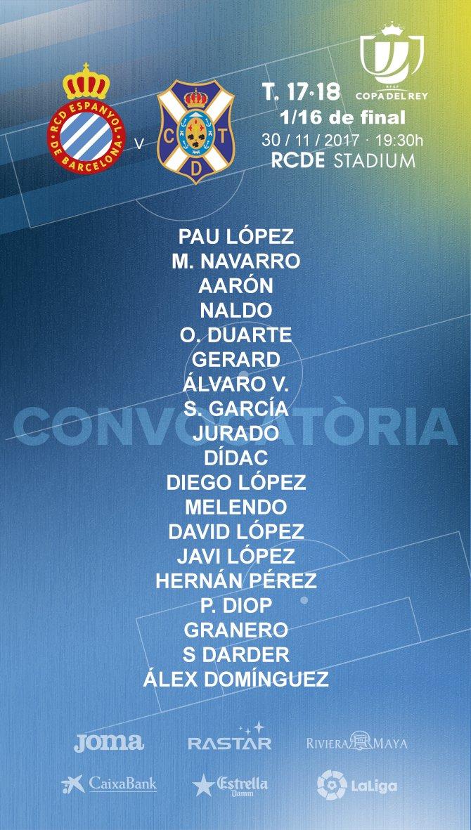 DPy_qfuXUAA4YXS Javi Fuego, Hermoso, Piatti y Víctor Sánchez fuera de la lista para recibir al Tenerife - Comunio-Biwenger