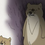 いよいよ明日発売「チベットスナギツネの砂岡さん」。それを記念して冬毛のスキウサギが砂奈子に接近…。4…