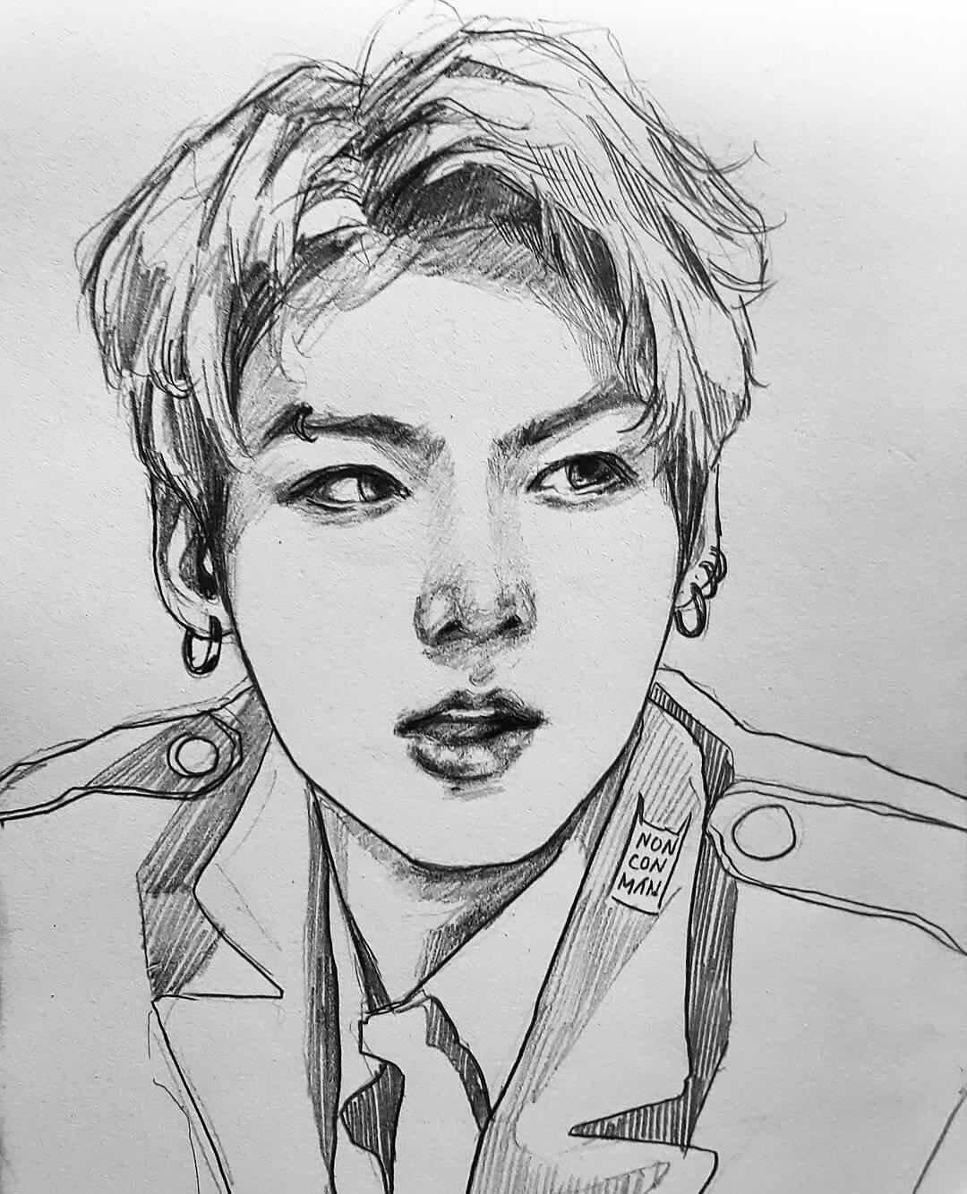 """ディアスくん🐰 On Twitter: """"Sketch Dumps #jungkook #jimin #jin…"""