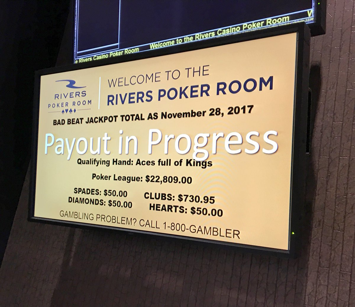 Rivers casino poker room bad beat poker in maui hawaii