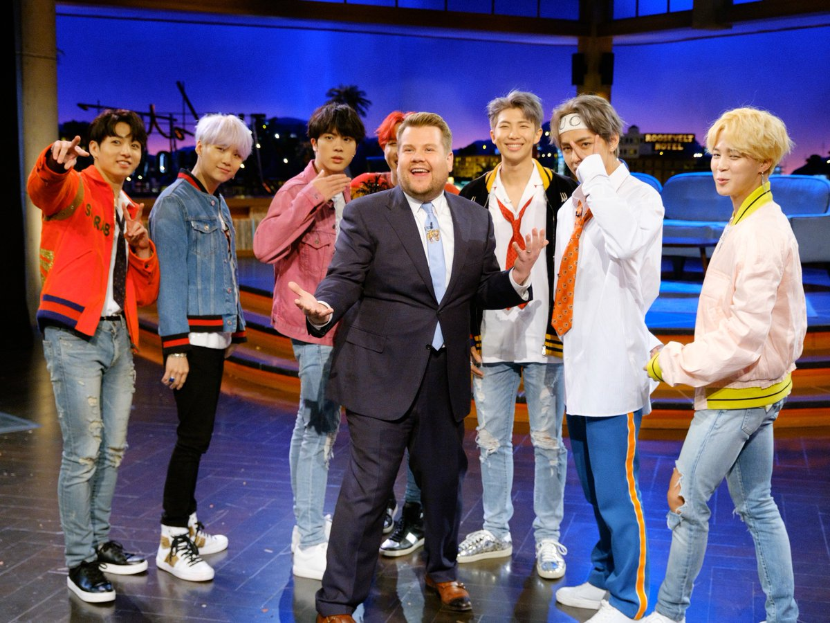 It's official! @BTS_twt's Late Late Show...