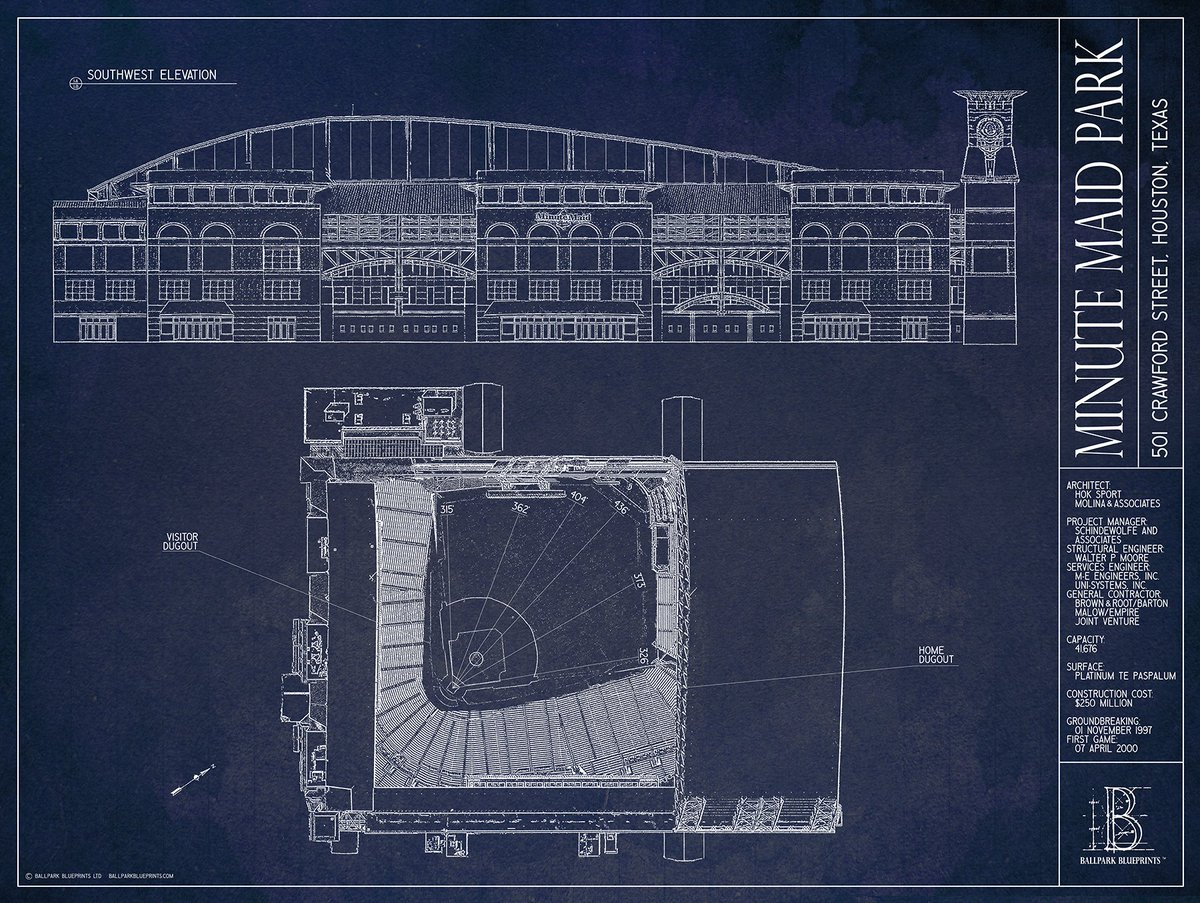 Ballpark blueprints on twitter hey crawfishboxes if you rt astrodome and one of minute maid park no strings attached use code crawfish for 10 off all orders malvernweather Choice Image
