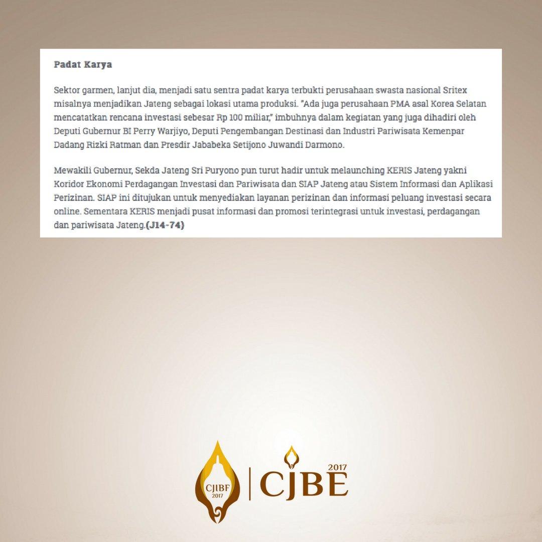 Cjibf 2017 on twitter central java investment business forum record 72 letter of intent loi with investment interest until rp 1372 trillion source httpkadinjateng cjibfcjbe2017 cjibf2017 cjbe2017 spiritdancerdesigns Images
