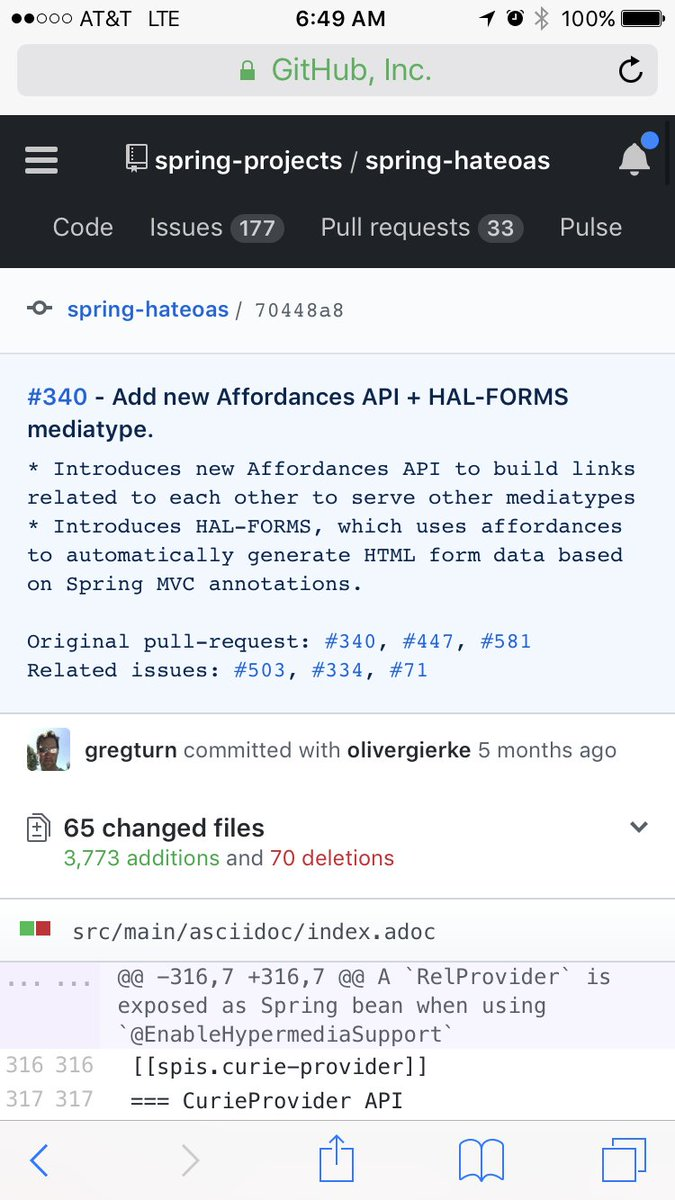 Hateoas hashtag on twitter api merged into spring hateoas two year multiple developer effort culminating in enhanced api to support new mediatypes including hal forms malvernweather Choice Image