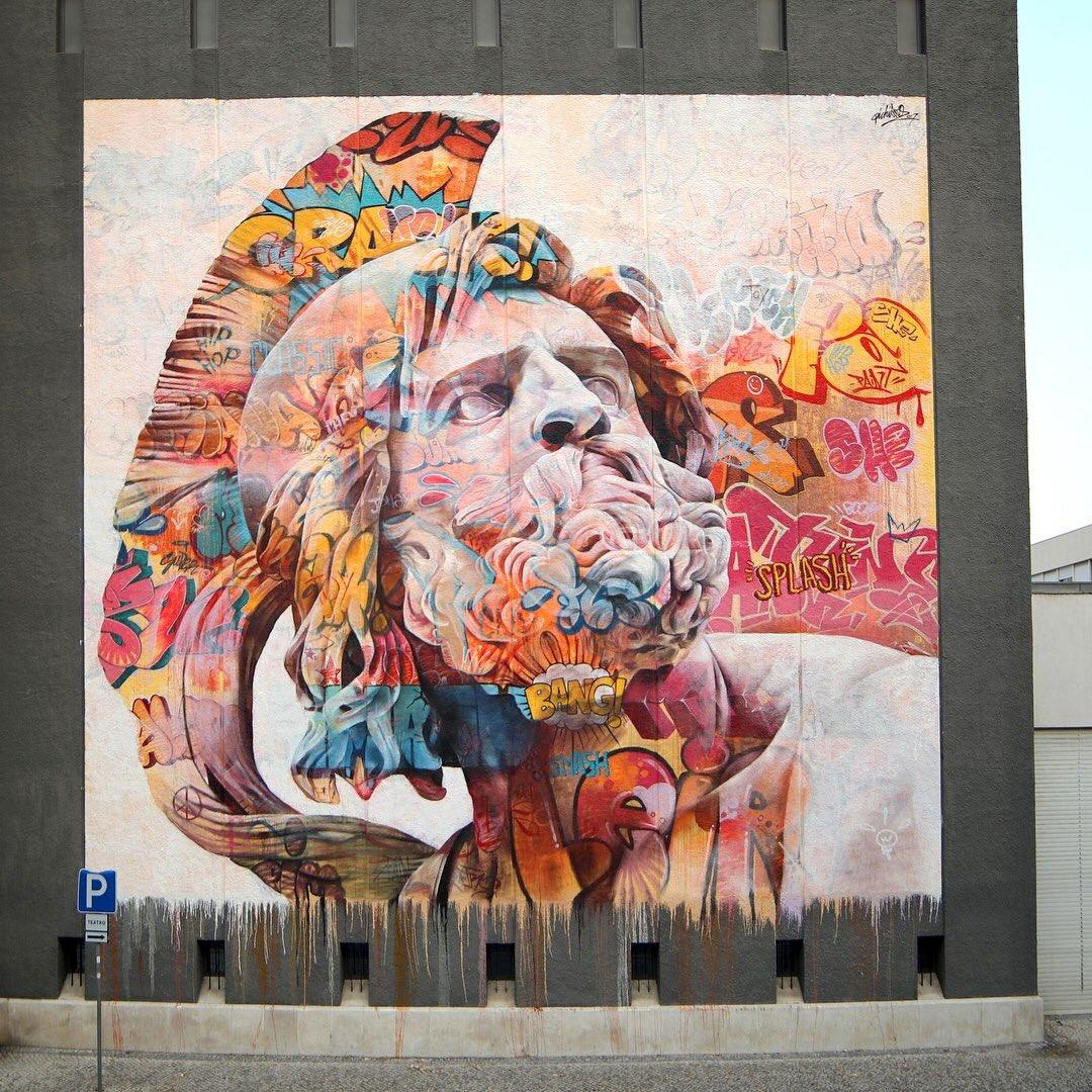 Pichiavo On Topsyone - Beautiful giant murals greek gods pichi avo