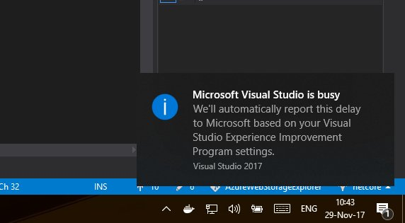 Image result for We will automatically report this delay to microsoft based on your experience improvement program setting.