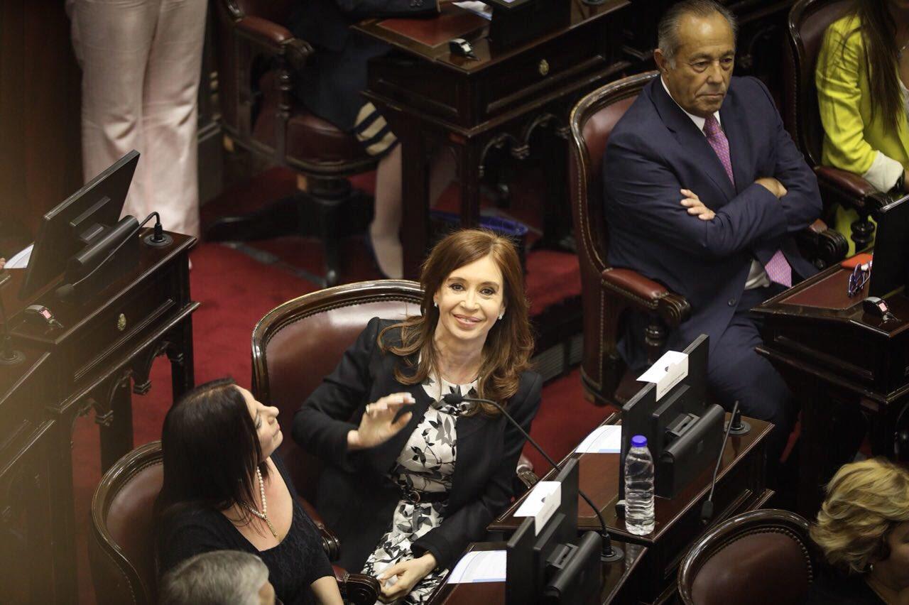 Luego de jurar como Senadora Nacional. https://t.co/eu0FJiSFBJ