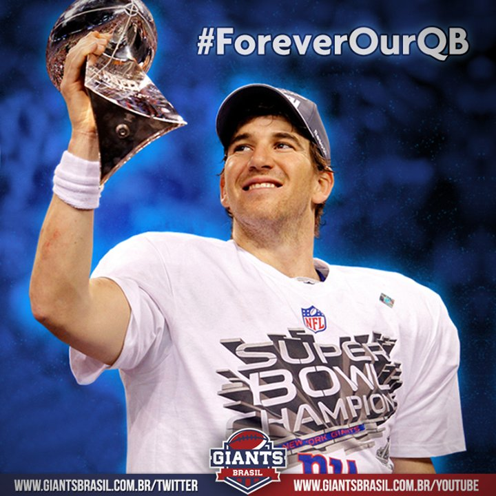 Eli Manning: #ForeverOurQB 💙 https://t.c...