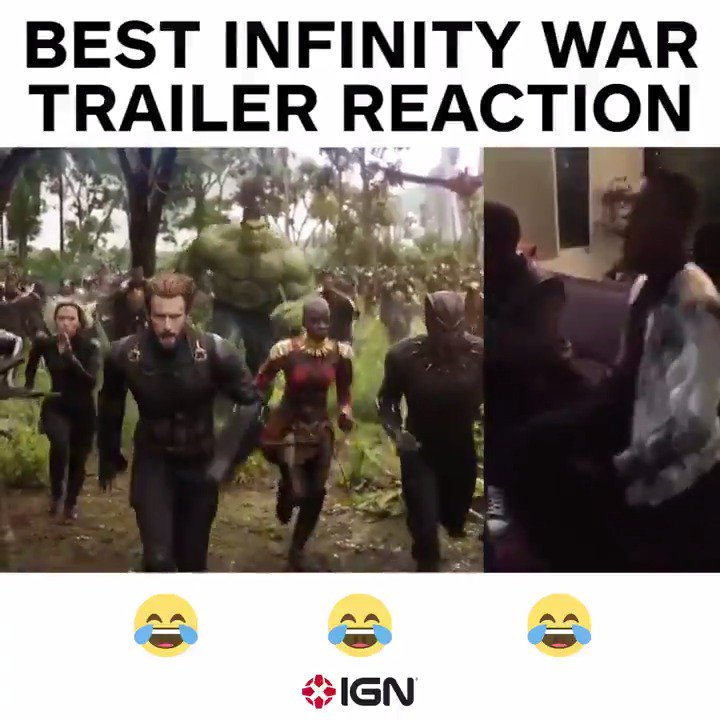 .@JohnBoyega is all of us watching the #Avengers​ #InfinityWar trailer... 😂