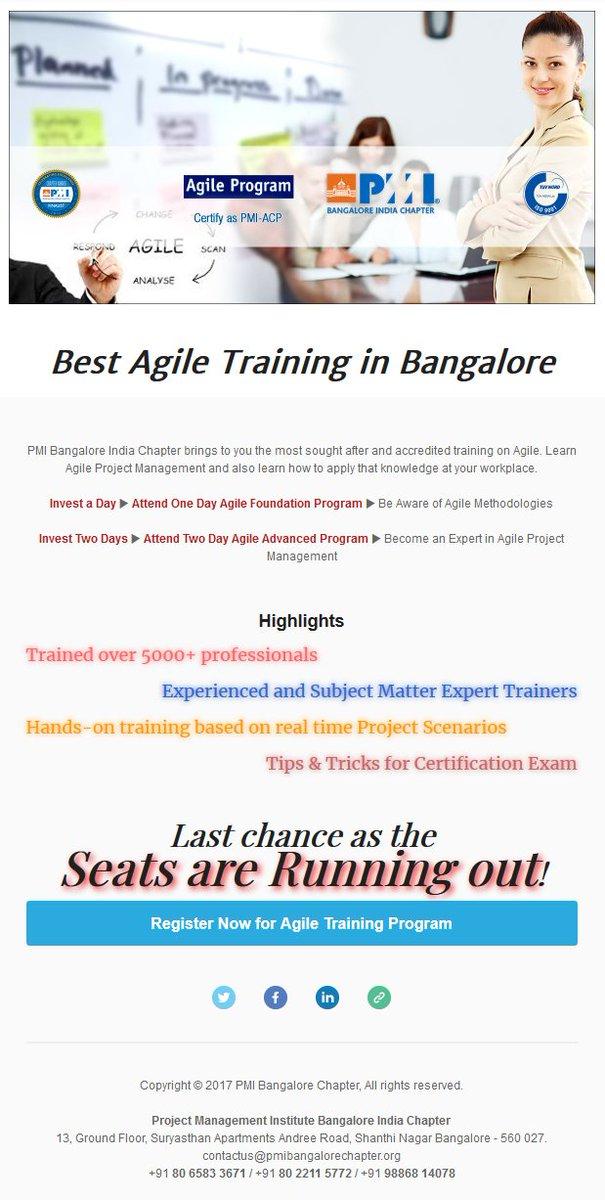 Pmi Bangalore India On Twitter Best Agile Training In Bangalore