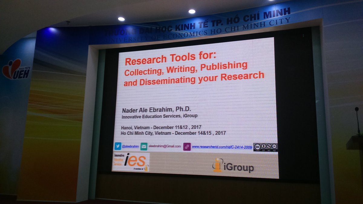Ready to start my presentation about #researchtools,   #researchvisibility,  and #researchimpact<br>http://pic.twitter.com/UF9IamTKKE