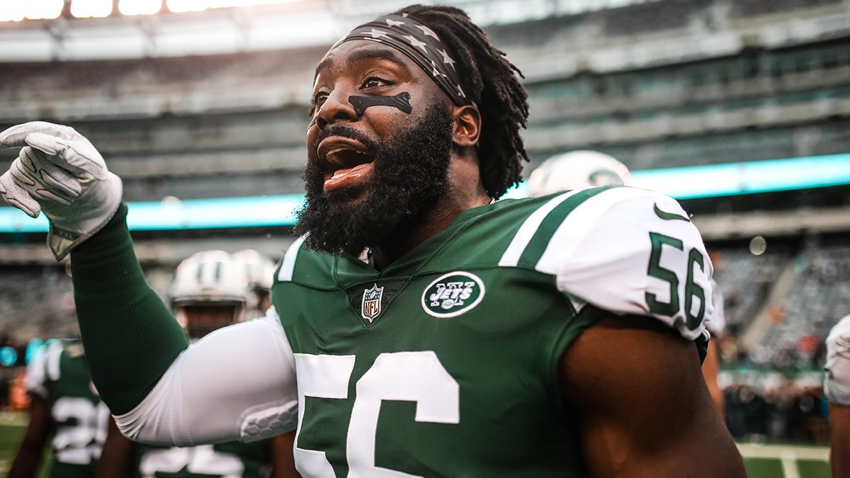 Career-high 16 tackles Sunday. On pace for 170 this season (most for a Jet since '05).  In case you didn't realize: @demario__davis is amidst a career year. #ProBowlVote   📰 https://t.co/cz3kEghfkK