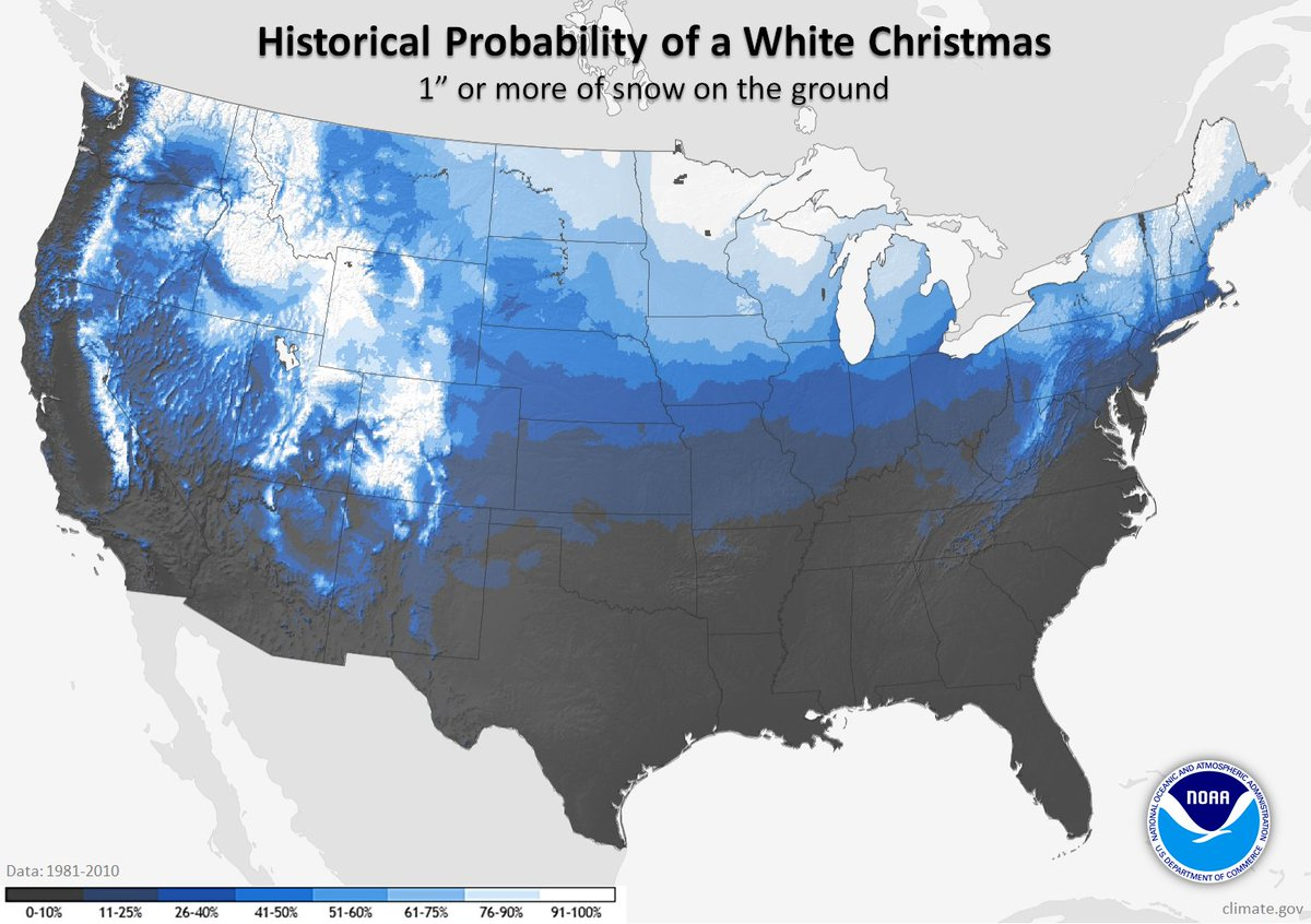 Less than 2 weeks to Christmas, and it's looking pretty safe to say most (if not all) of northern Michigan will enjoy a white Christmas! The NWS definition of a white Christmas is 1' or more of snow on the ground Christmas morning.