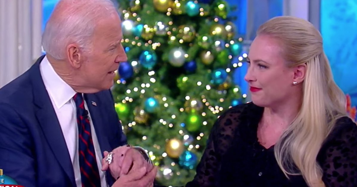 Joe Biden holds Meghan McCain's hand in emotional moment on 'The View' https://t.co/Uxio8iUzLo