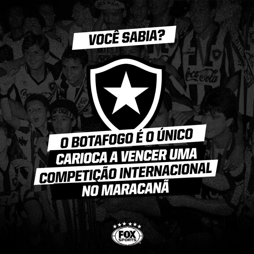 ⚪️🏆⚫️ O GLORIOSO! No Maracanã, dos clubes cariocas, só o @BotafogoOficial levantou uma taça internacional!