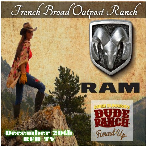 Just one more week and the French Broad Outpost Ranch will be featured on Debbe Dunnings Dude Ranch Round Up on #RFD tv. If you want a great #vacation, give us a try!  http:// frenchbroadduderanch.com  &nbsp;  <br>http://pic.twitter.com/ocbhLOailr