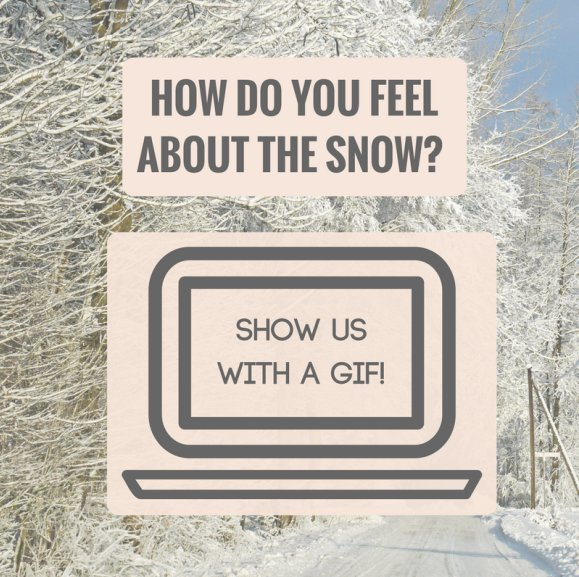 How do you feel about the snow? Show us with a GIF!