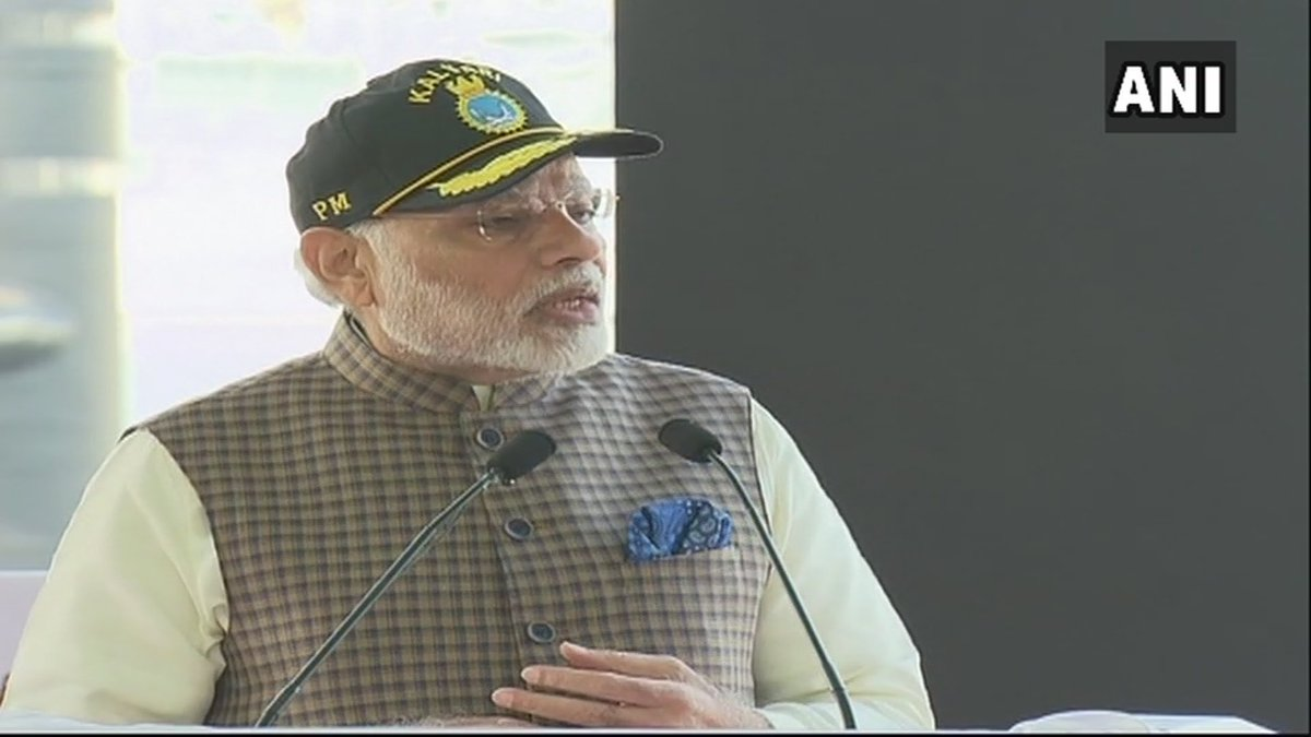The world is willing to work with India towards peace and stability: PM Modi #INSKalvari https://t.co/9ytoH9aC7v