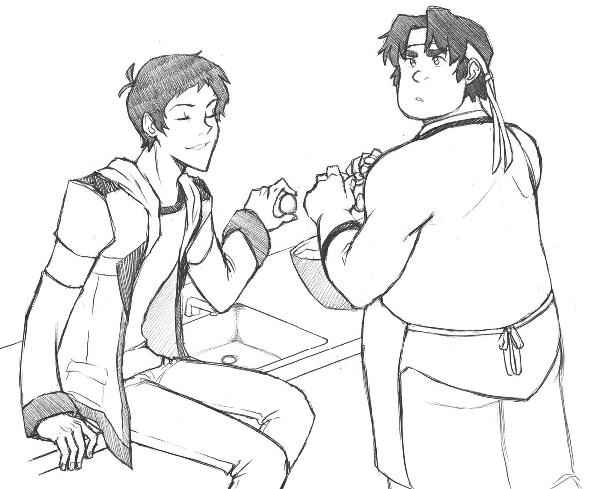 &quot;d&#39;y&#39;see how i totally showed up keith in class today?&quot; &quot;no. and get your butt off the counter, lance, that&#39;s gross.&quot; #lance #hunk #voltron <br>http://pic.twitter.com/hUHDwaHDu8