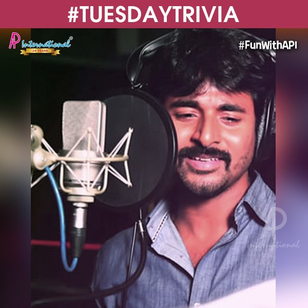 Name the movie in which #Velaikkaran Hero @Siva_Kartikeyan made his debut as a playback singer?  #TuesdayTrivia   #FunWithAPI<br>http://pic.twitter.com/DEQpAMY1nz
