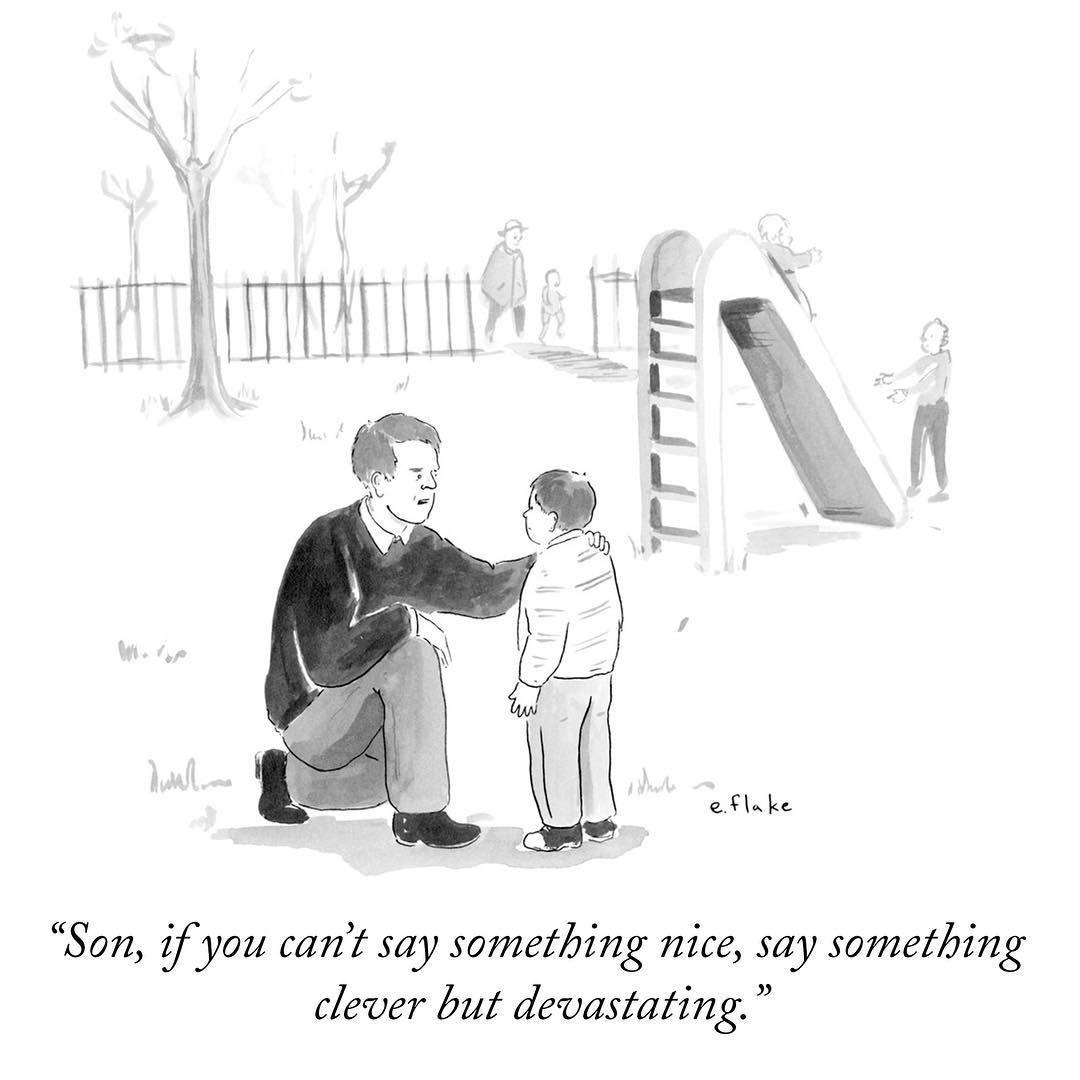Replying to @NewYorker: Instagram's favorite New Yorker cartoons of 2017: