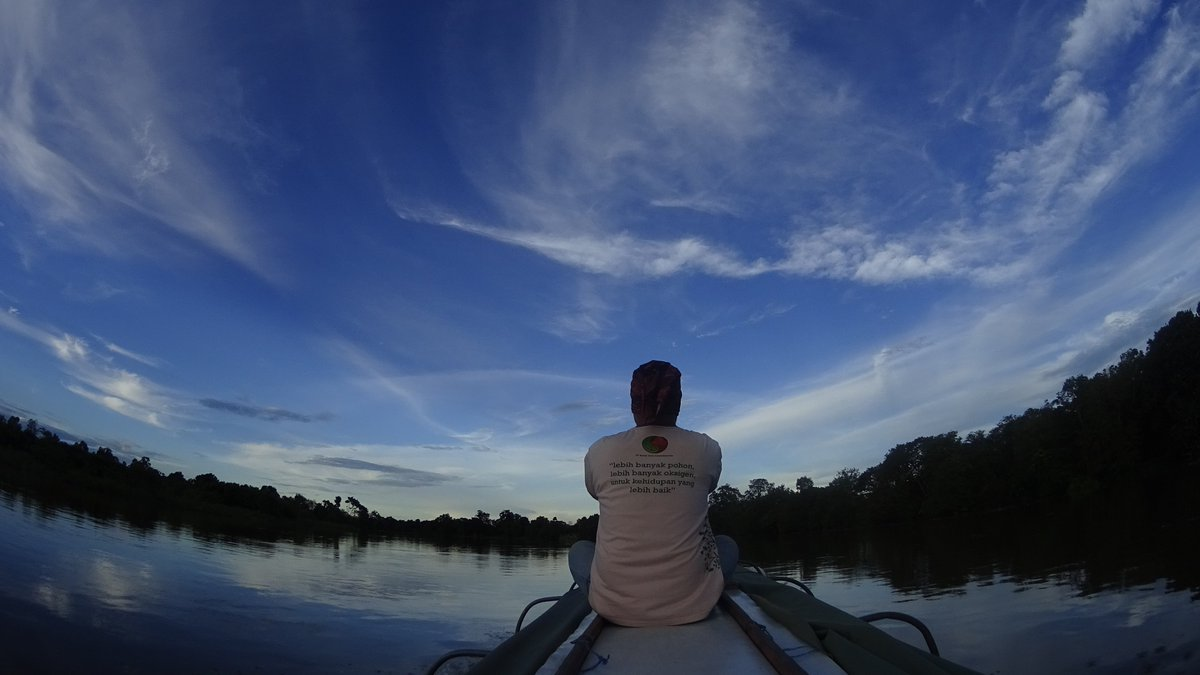 Take a moment to enjoy the view. Anthon Kesaulya-Comdev Technical Staff #Borneo #Boats #RiverLife