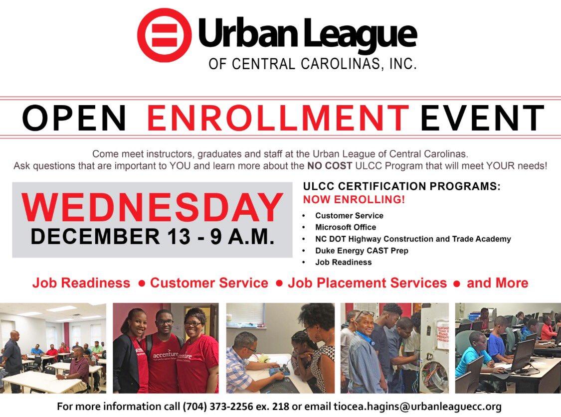 Urban League Clt On Twitter All Ulcc Programs Will Begin In