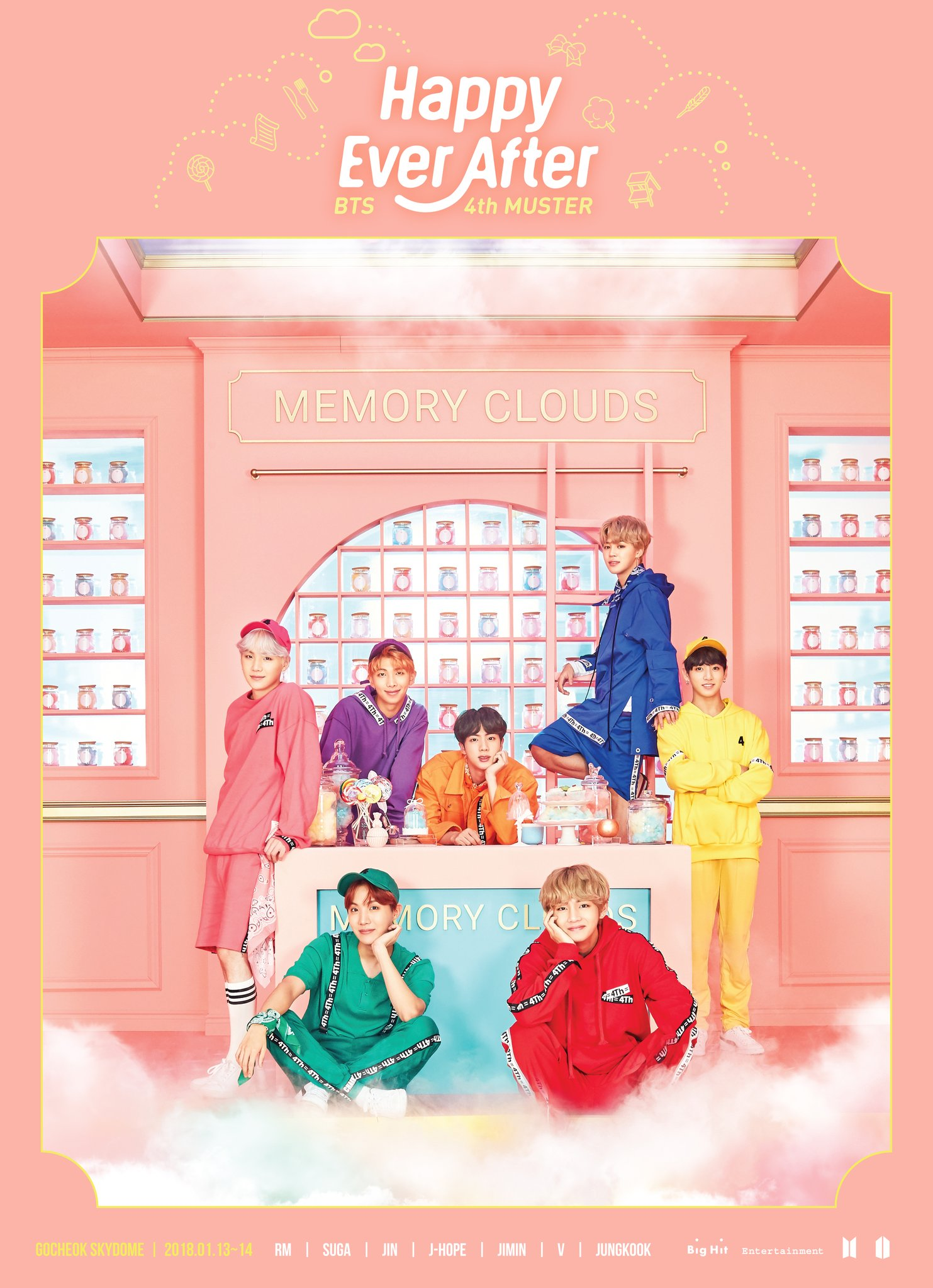 Picture] BTS 4TH MUSTER [Happy Ever After] Main Poster[171212] |
