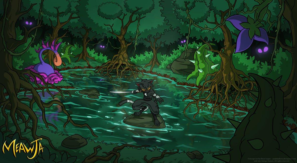 Galope Team On Twitter Hidden Swamp Wallpaper Art By Drew Lopes Meawja Indiegame Indiedev Gamedev Pixelart Wallpaper