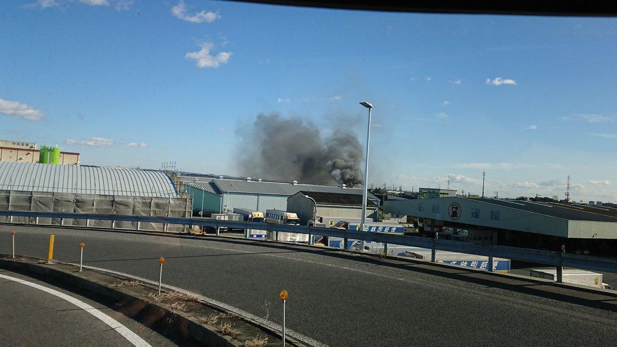 画像 : 【火事】静岡県浜松市東区白鳥町 浜松インター付近で ...