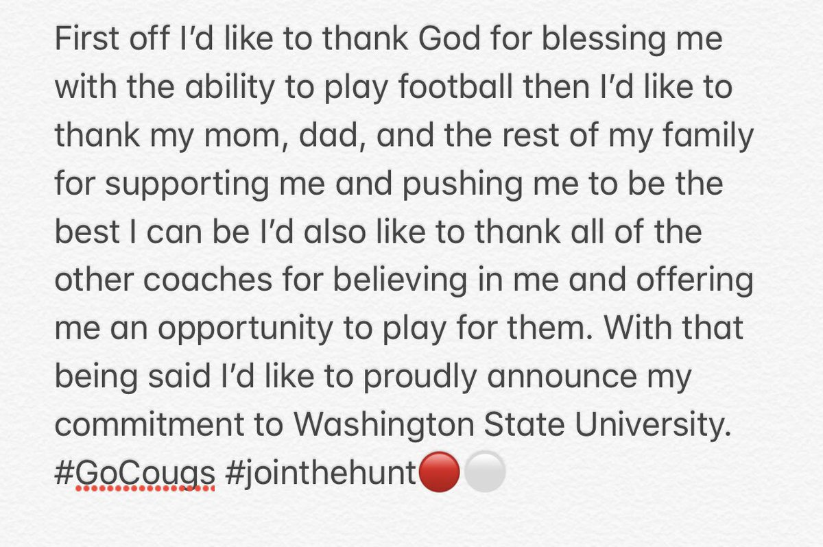 100% Committed. #GoCougs