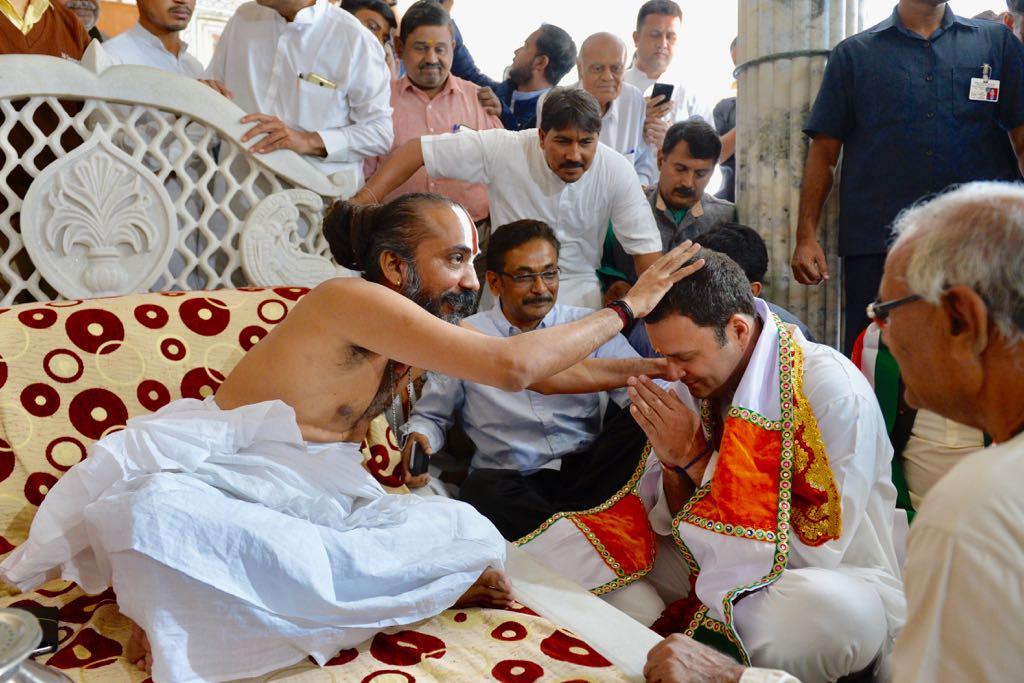 The day begins with Congress President-Elect Rahul Gandhi seeking Darshan at Shree Jagannathji Temple for Gujarat's Navsarjan.