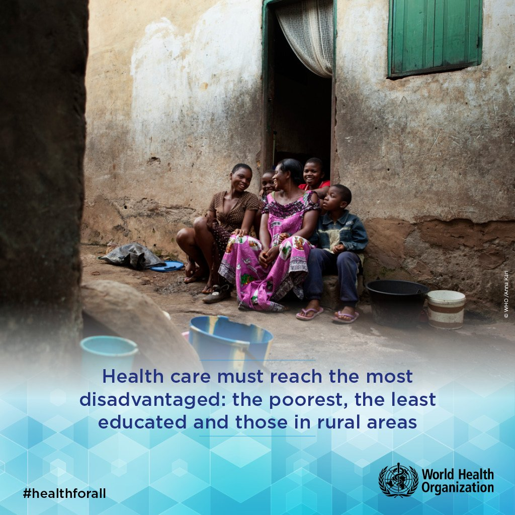 WHO On Twitter Universal Health Coverage Reduces Poverty - Who's the poorest person in the world