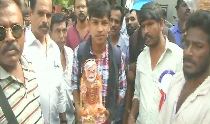 Tamil Nadu: Fans gather outside Rajinika...