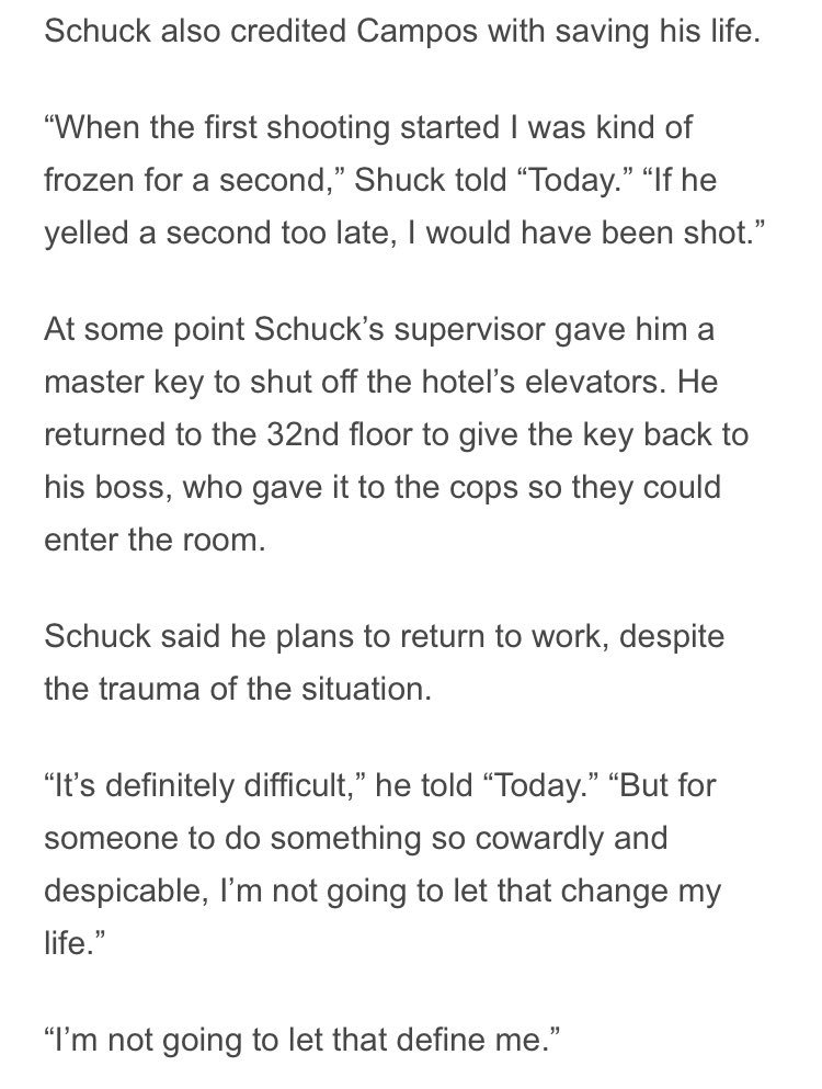 Here's another lie I can't figure out #LasVegasShooting: Shuck said he had to get a master key to shut off the elevators &amp; then had to bring the key back up to his supervisor. His supervisor gave it to the cops to open #StephenPaddock's room. Breach or a key?Who's lying? <br>http://pic.twitter.com/5T3jPdf9cz