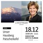 """Am Montag, den 18.12. um 18 Uhr Thema in meinem Livestream: """"Unser Hausberg Patscherkofel"""". Ich freue mich auf eure Fragen in den Kommentaren auf Facebook https://t.co/AI8XpEvlfk. #ibktwit #livestream #intirol #innsbruck #patscherkofel #winter #hausberg"""