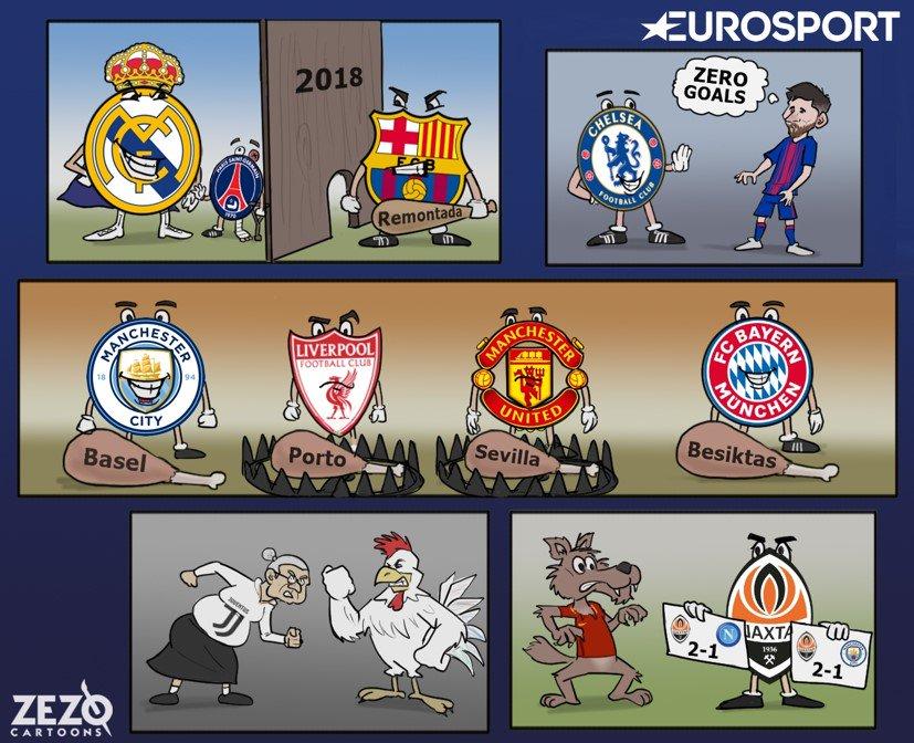 Пары 1/8 финала Лиги чемпионов в карикатурах - изображение 1