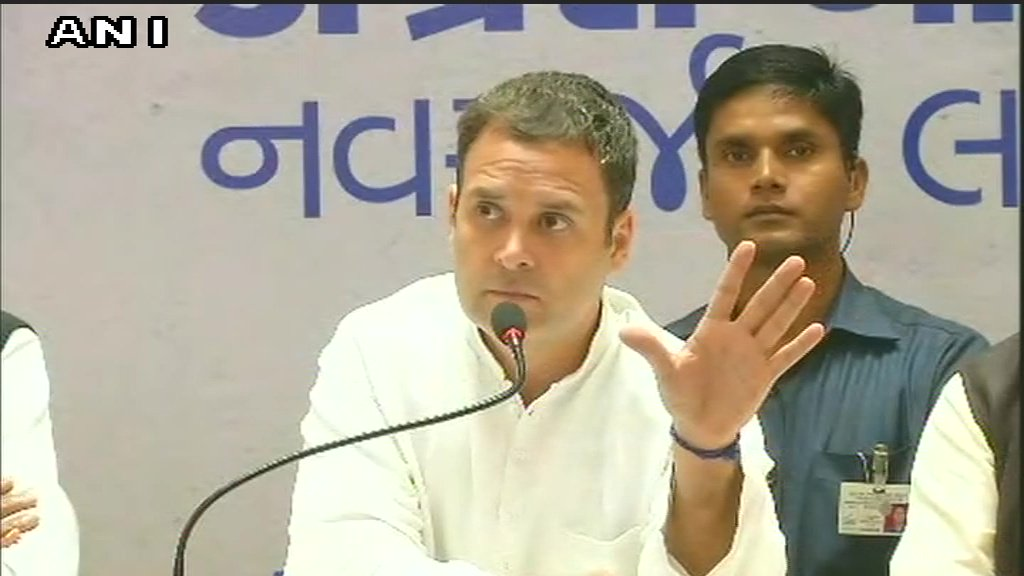 People of Gujarat are very intelligent, they can see that PM Modi is not talking about corruption or farmers in his rallies, says Rahul Gandhi   #ElectionWithTimes #GujaratElection2017     LIVE updathttps://t.co/WWffsNHTVEes: