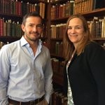 """At 9pm tonight, Sky Arts will be showing """"Passions: I hate Jane Austen"""" with Giles Coren. In this summer, he came to Chawton House with Tracy Chevalier (pictured) to be filmed for this documentary. https://t.co/P6WuyWXFUL"""